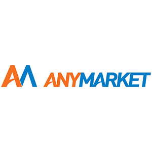 Logo ANYMARKET, no site do EIVE, ERP para e-commerce
