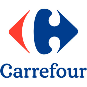 Logo Carrefour, no site do EIVE, ERP para e-commerce