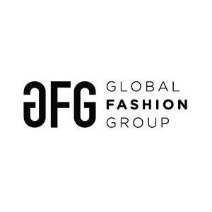 Logo GFG - Global Fashion Group, no site do EIVE, ERP para e-commerce