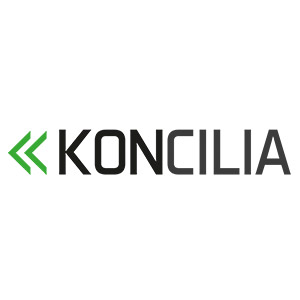 Logo Koncilia, no site do EIVE, ERP para e-commerce