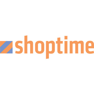 Logo Shoptime, no site do EIVE, ERP para e-commerce